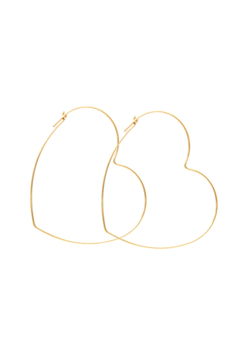 Gold Lust Heart Hoops