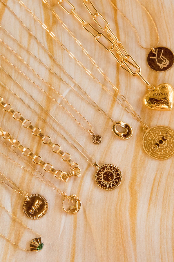 Gold Lunar Phases Necklace