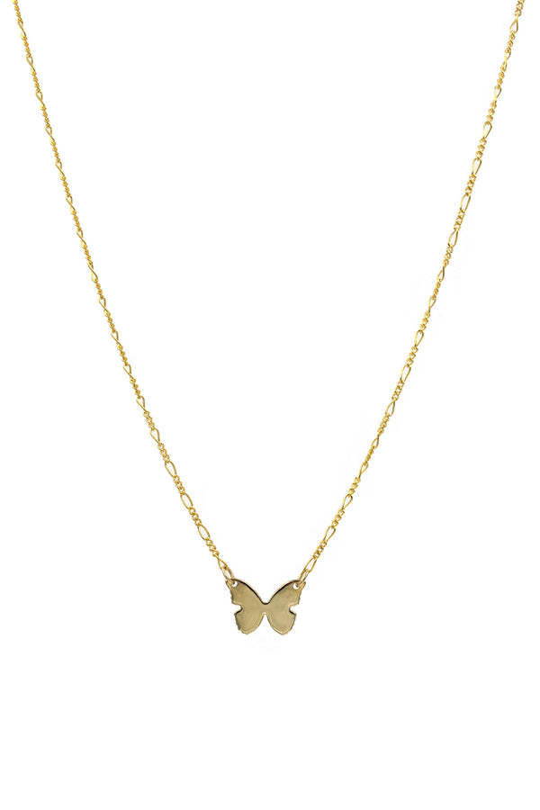 Gold Large Butterfly Necklace