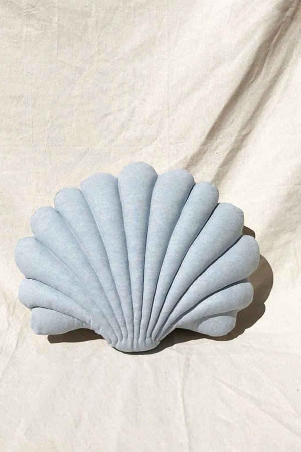 Pale Blue Linen Shell Pillow