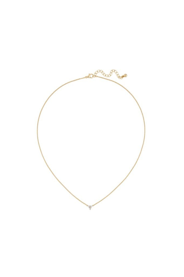 Gold CZ Lyric Necklace