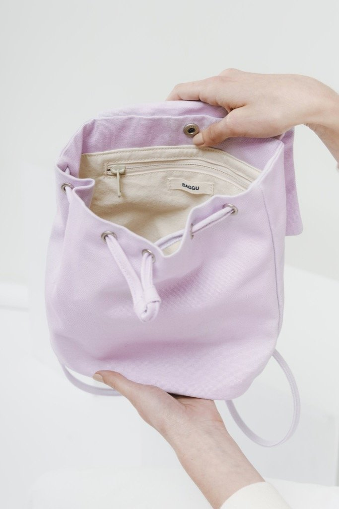 Lilac Canvas Mini Backpack
