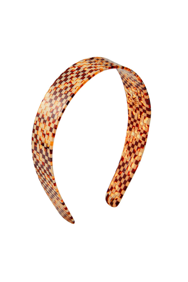 Tortoise Checker Wide Headband