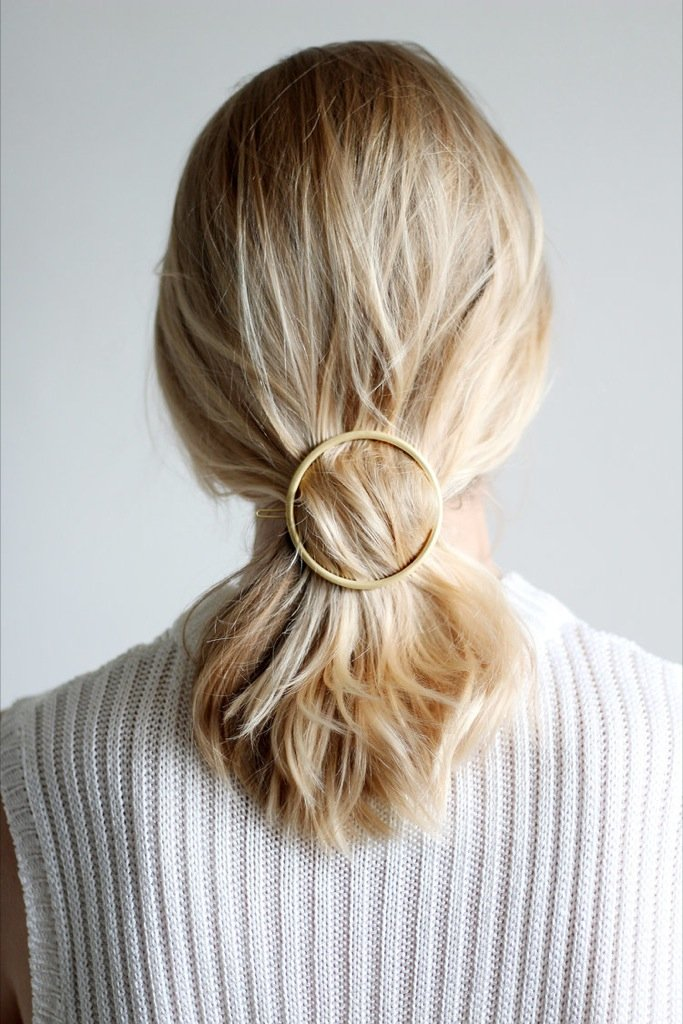 Large Gold Hair Clip