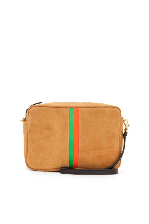 Camel Striped Marisol Bag