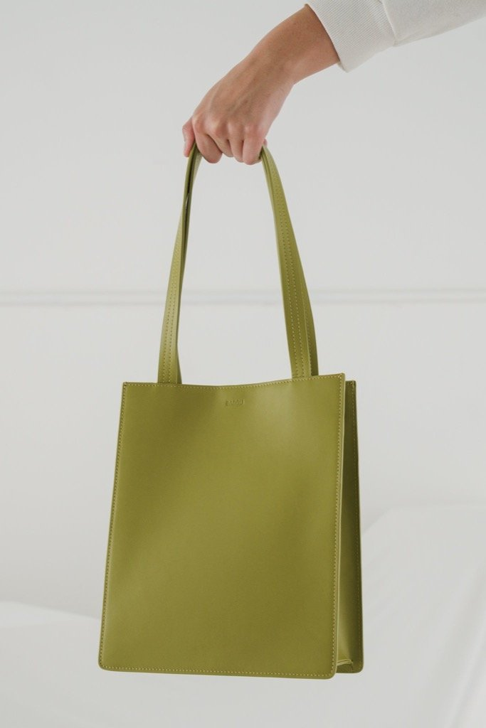 Spanish Moss Medium Leather Tote