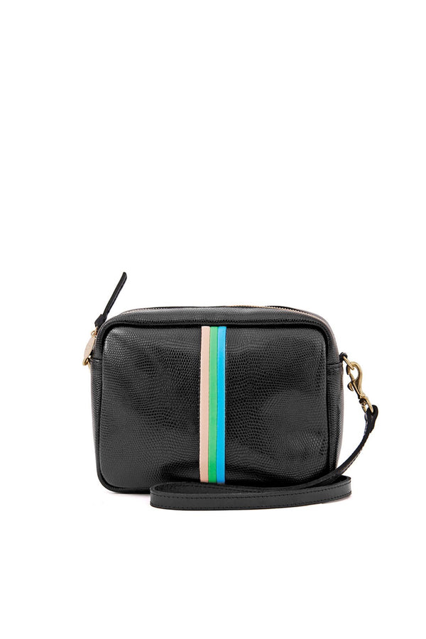 Black Lizard Stripe Midi Sac