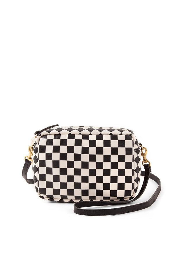 Black Checkers Midi Sac