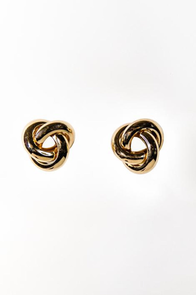 Mini Gold Knot Earrings