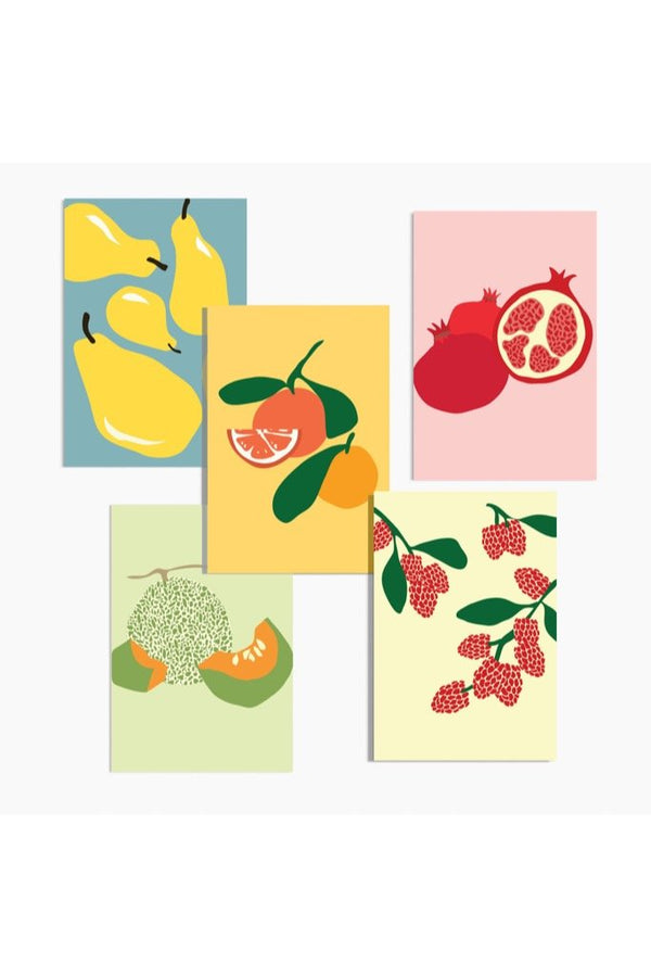 Modern Fruit Postcards