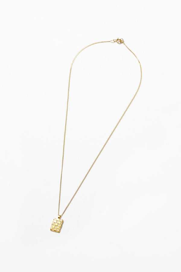 Cream + Gold Penny Necklace