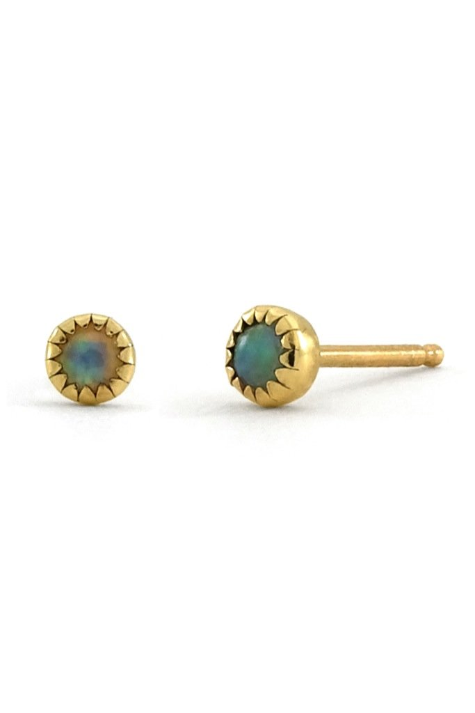 Gold Small Opal Studs