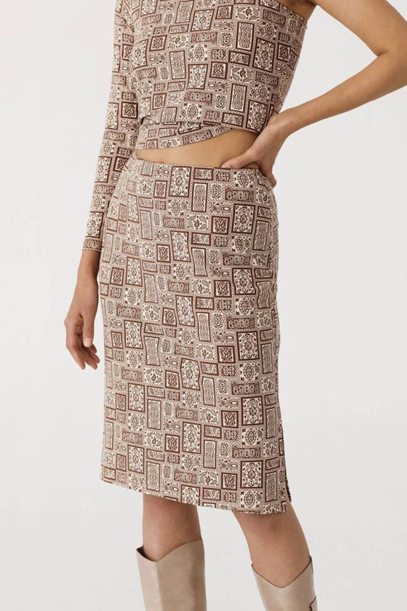 Shiny Brown Rocky Skirt