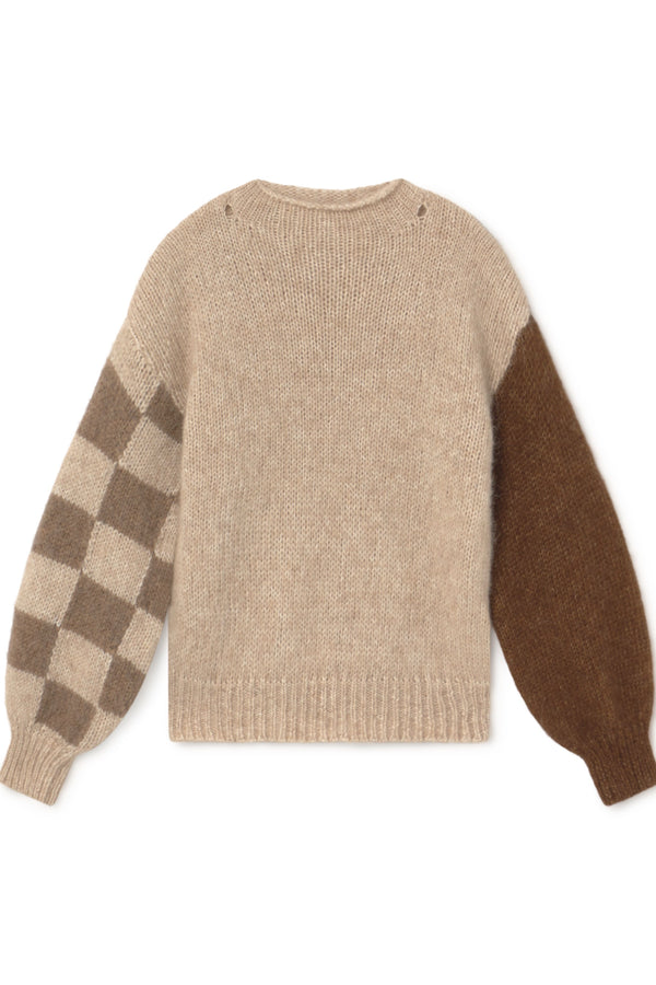 Natural Suri Sweater