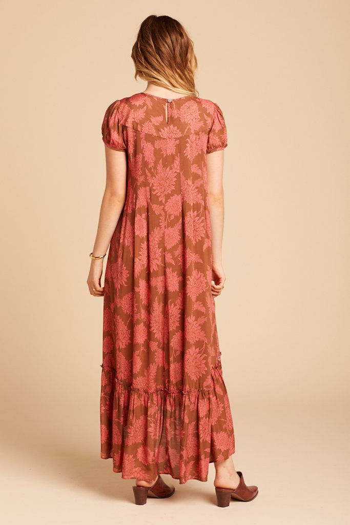 Copper Dahlia Birdie Dress