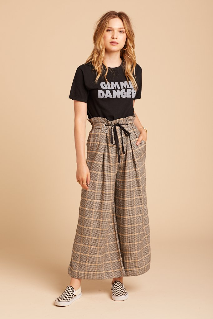 Plaid Charlie Pant