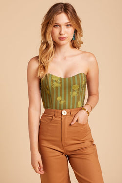 Verde Stripe Ford Bodysuit