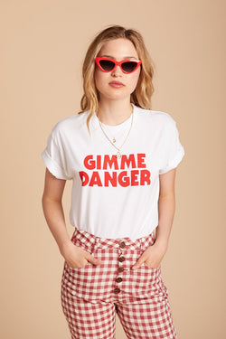 White Gimme Danger Tee