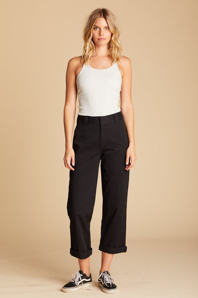 Black Work Crop Pant