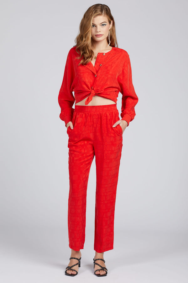 Candy Red Carmen Pant