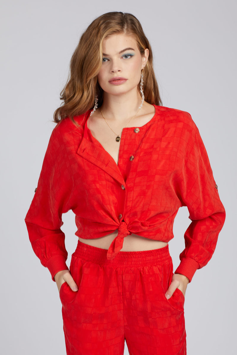 Candy Red Lib Top
