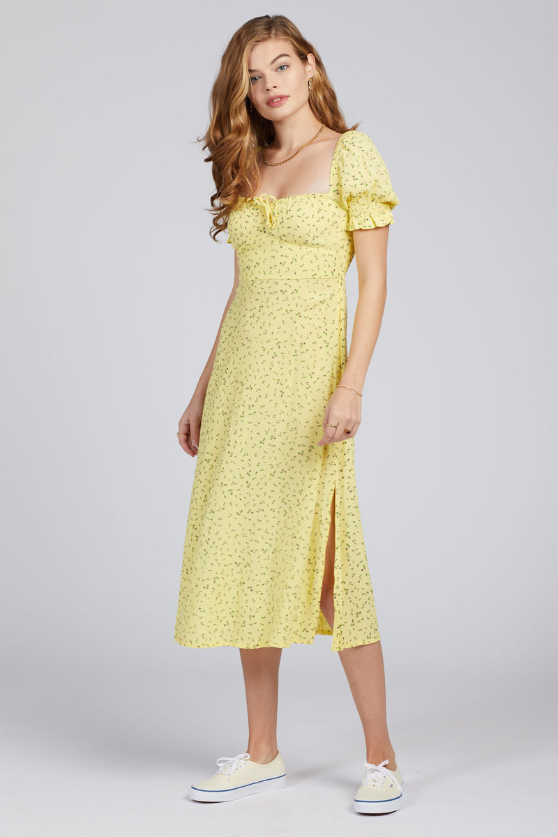 La Fica Floral Evelyn Midi Dress