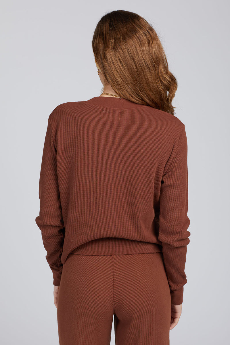 Tobacco Spencer Thermal Top