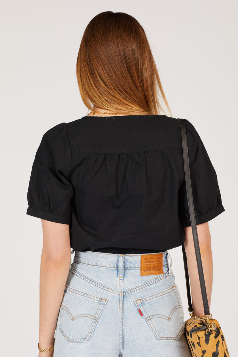 Black Simone Top