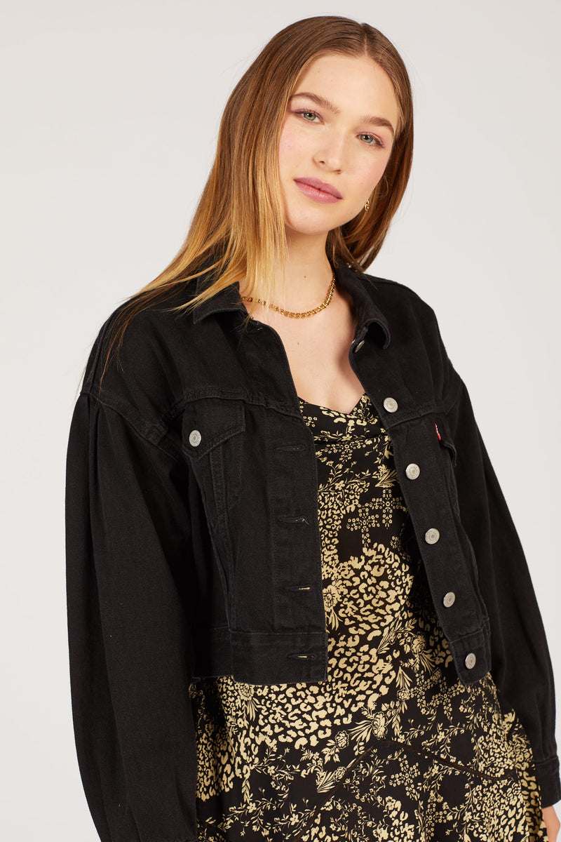 Lady Di Pleat Trucker Jacket