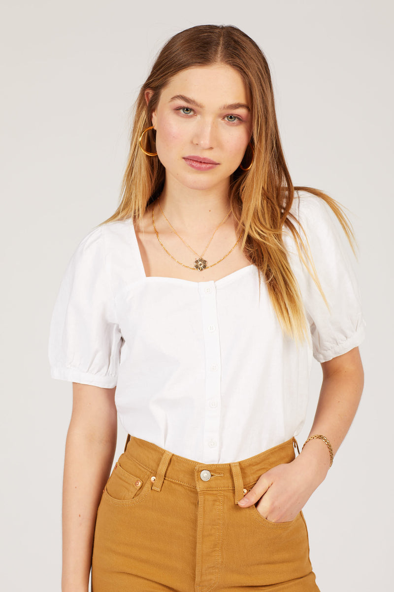 White Simone Top