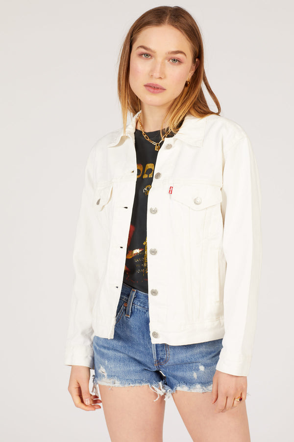 White Cell Ex-Boyfriend Trucker Jacket