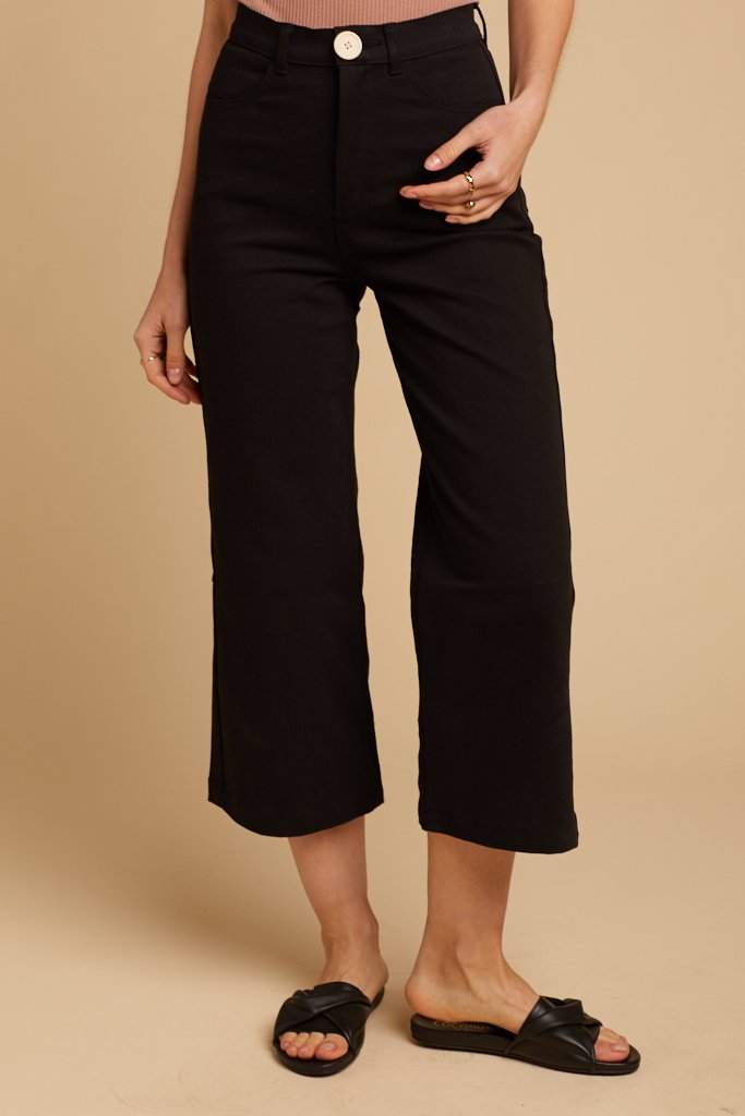 high rise cropped pant
