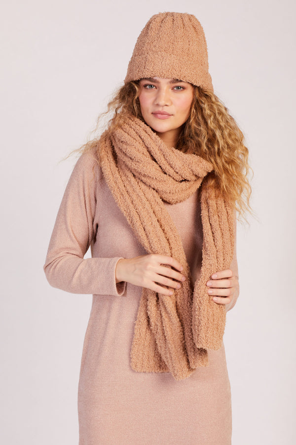 Taupe Cloud Blanket Scarf