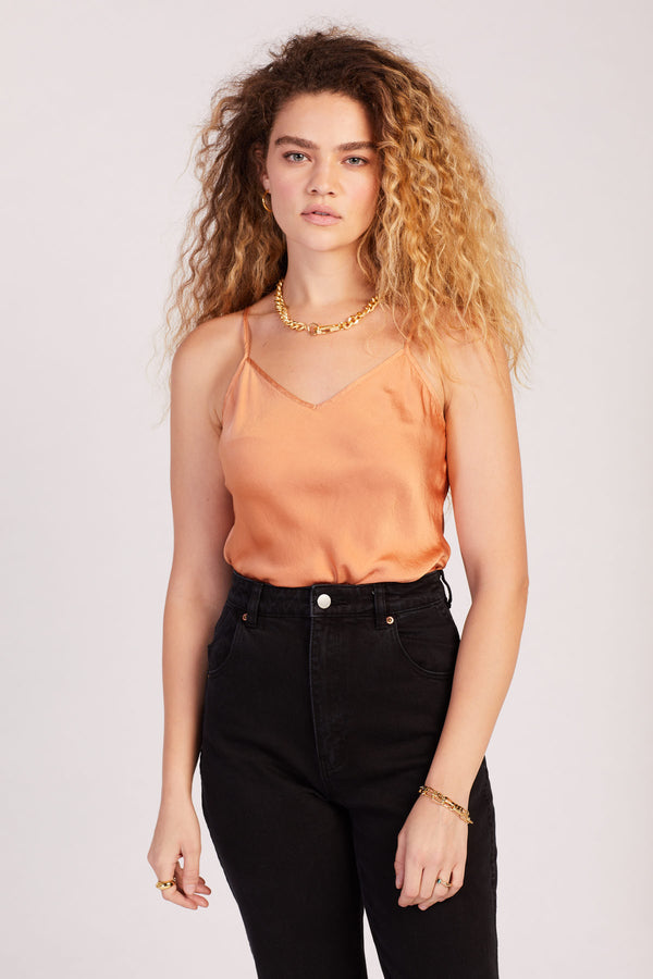 Terracotta Silk Cami