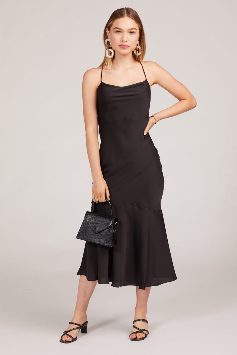 Black Robi Cowl Neck Dress