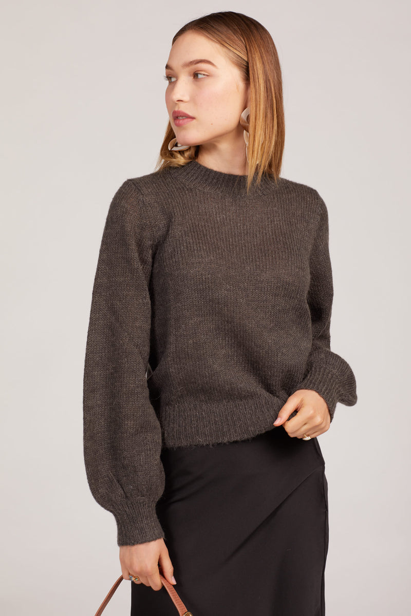 Black Fluffy Gigi Sweater