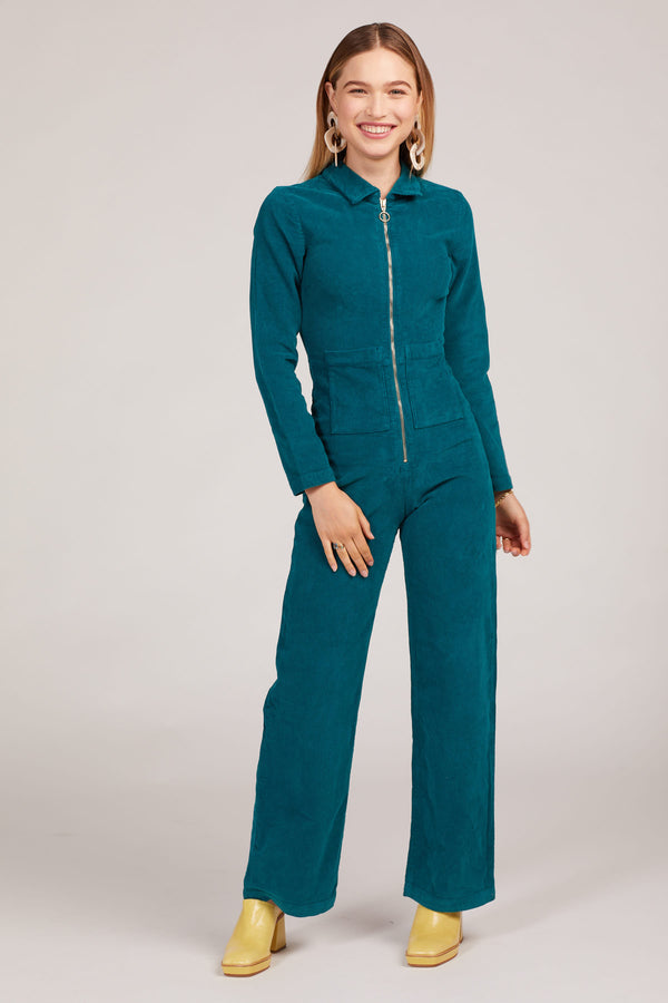 Smoke Green Paufe Jumpsuit