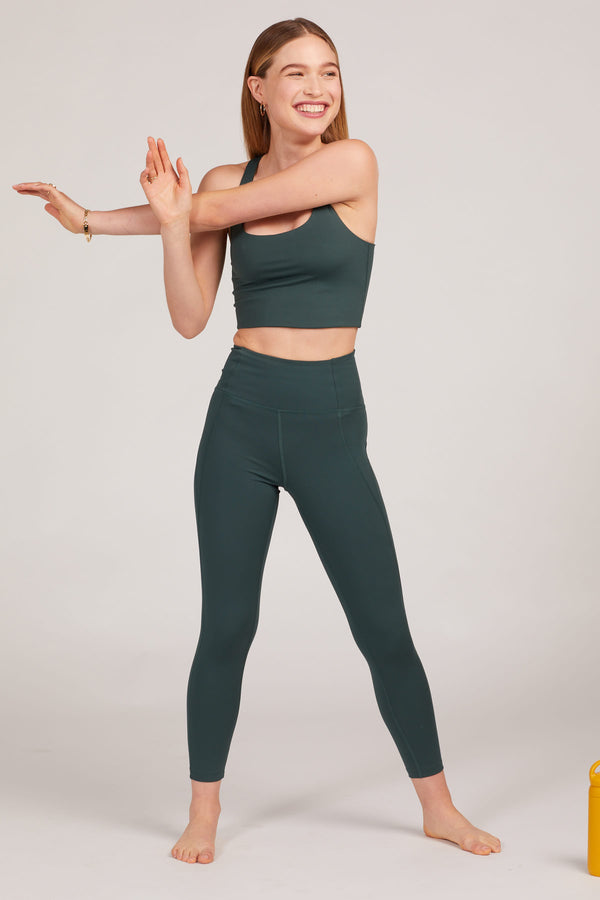 "23 3/4"" Moss Compressive High Rise Leggings"