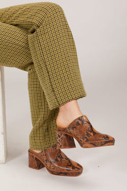 Brown Snake Mercurio Clog