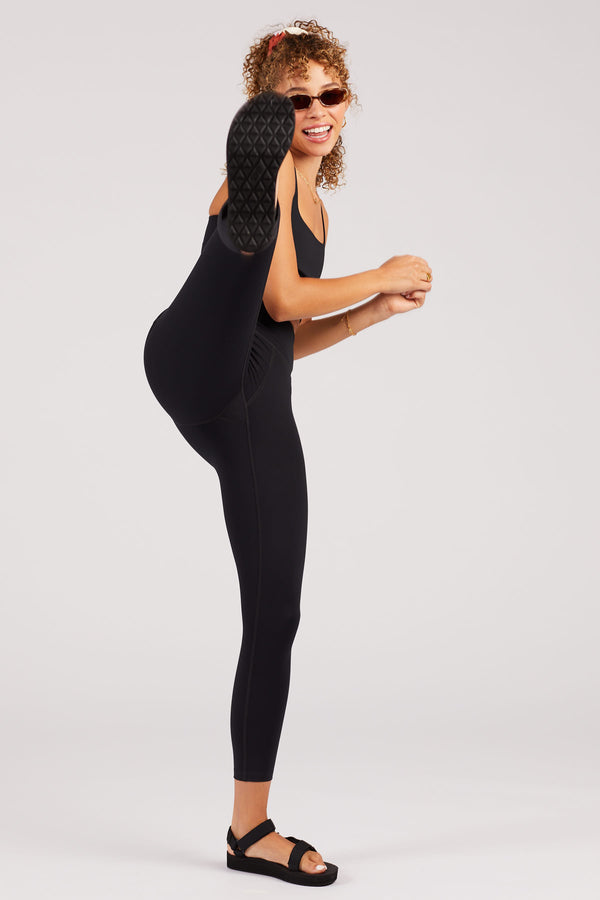 "23 3/4"" Black Compressive High-Rise Legging"