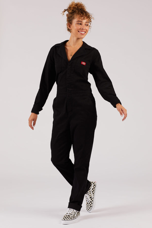 Black Long Sleeve Coveralls