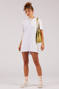 White Zepplin Tee Dress