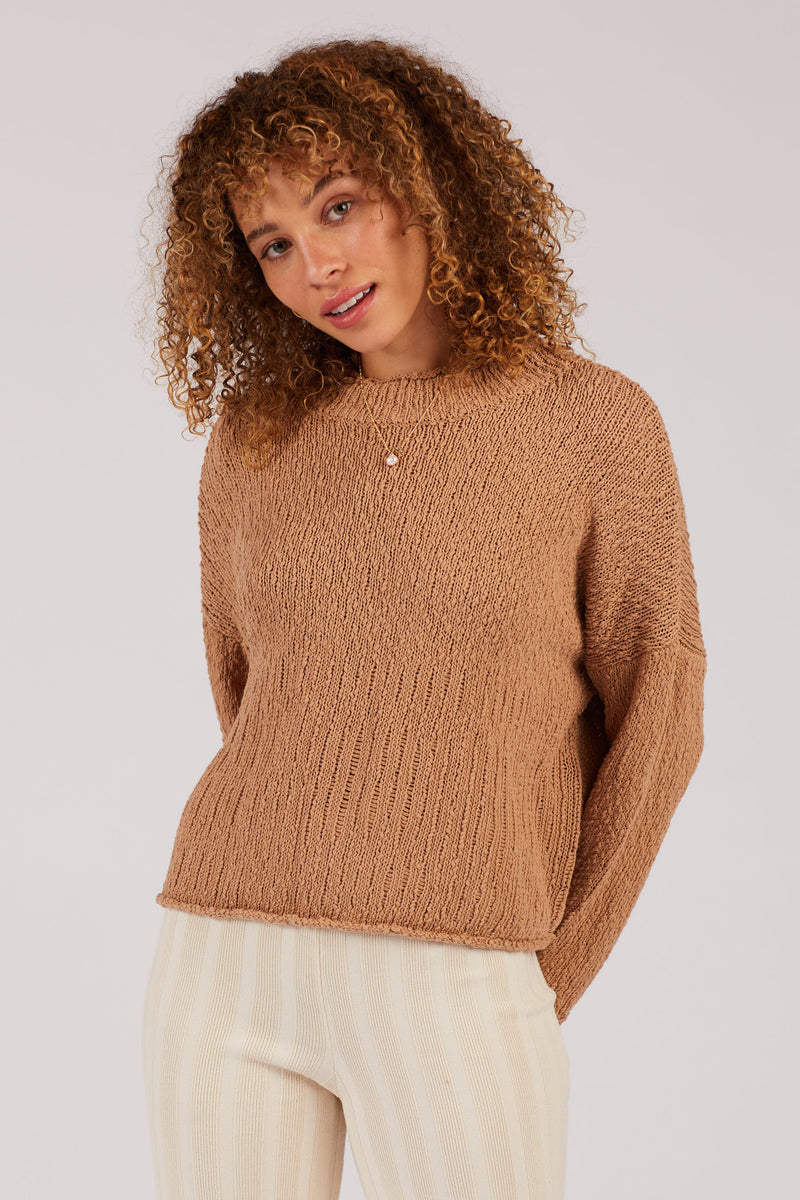 Camel Nubby Sweater