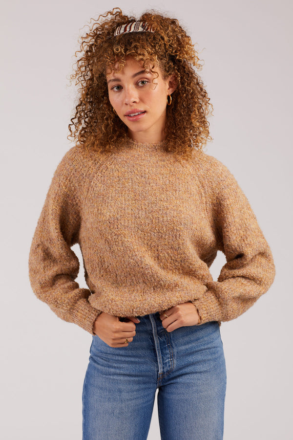Speckled Mockneck Sweater
