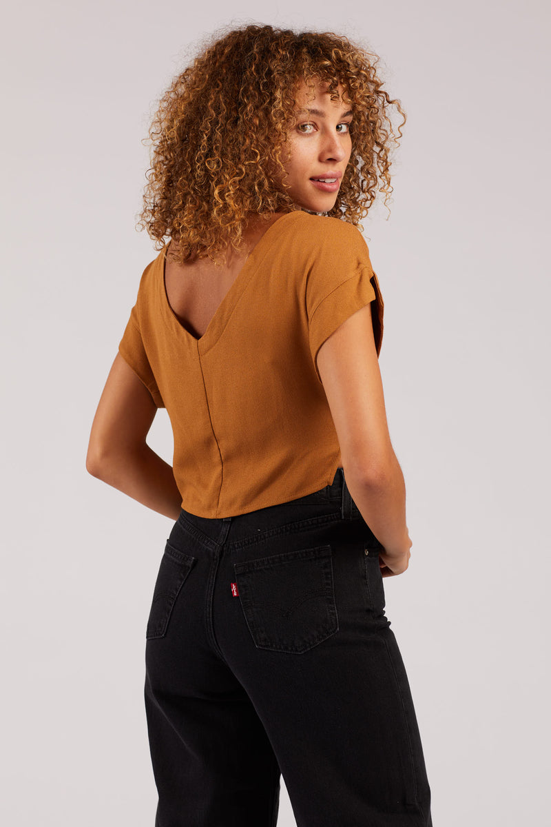 Brown Lilah Crop