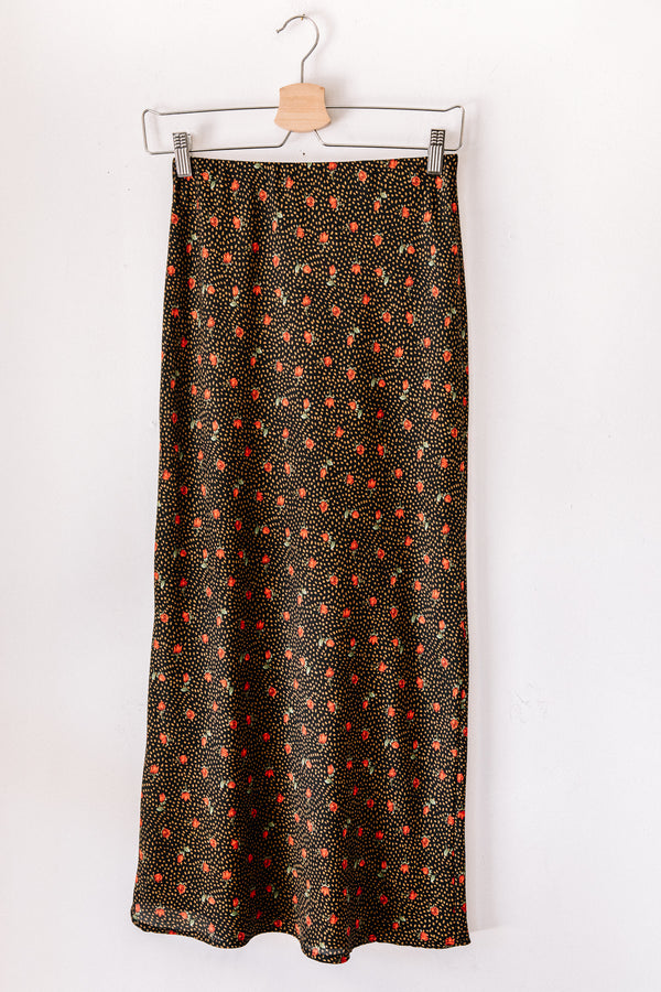 Rosey Dotted Maxi Skirt
