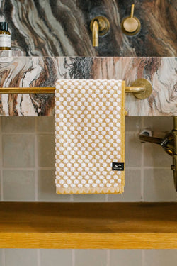Mustard Clive Hand Towel