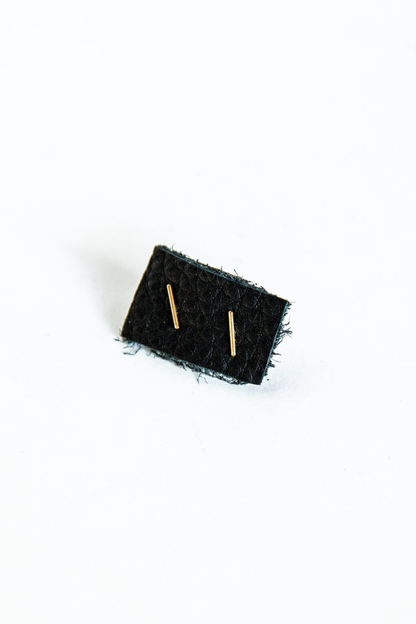 Gold Mini Bar Studs