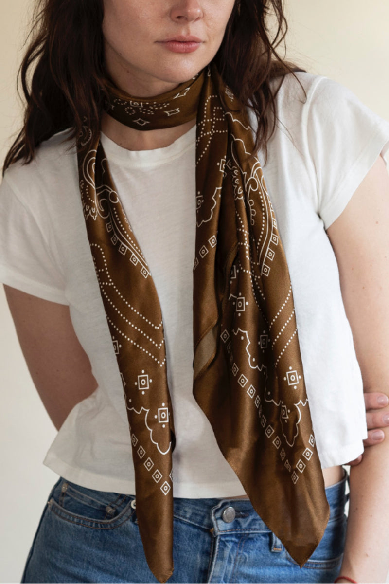 Brown XL Western Bandana