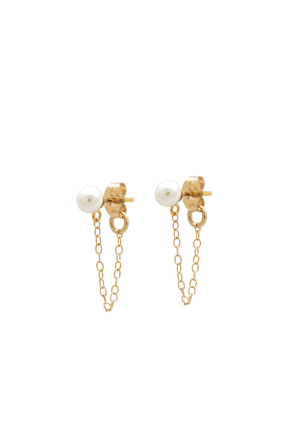 Gold Pearl Miss Studs